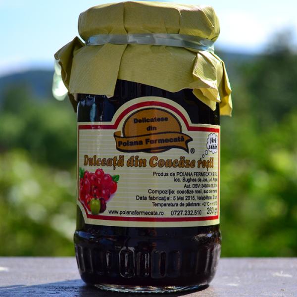 Dulceata coacaze rosii fara zahar - Poiana Fermecata