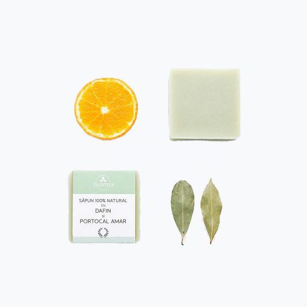 Sapun natural cu dafin si portocal amar - Trio Verde