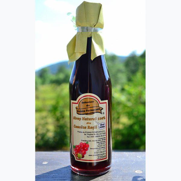 Sirop coacaze rosii fara zahar - Poiana Fermecata