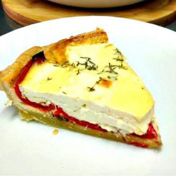 Tartă cu brânză de capră