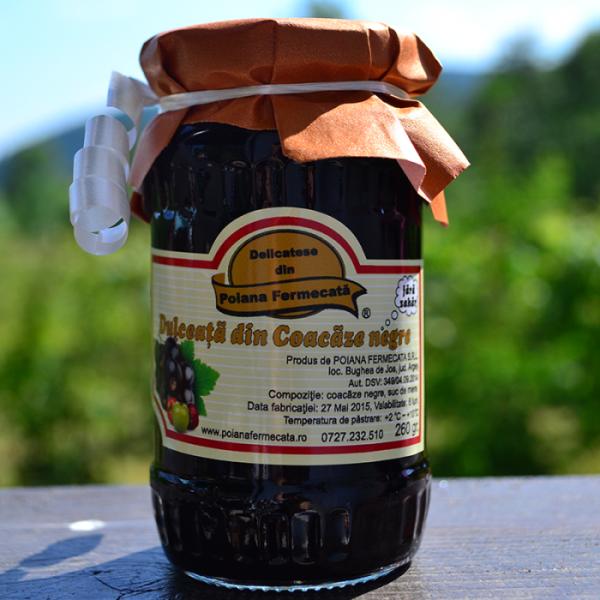 Dulceata coacaze negre fara zahar - Poiana Fermecata